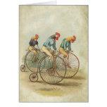 Chickens on Vintage Bikes