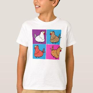 Chickens Squares - Kids shirt