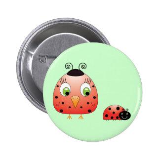 chickie B a Ladybug Button