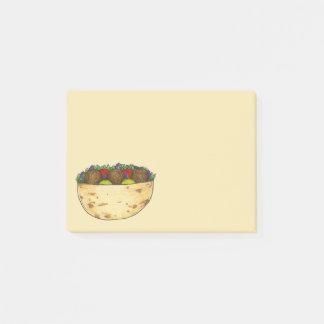 Chickpea Falafel Pita Mediterranean Food Sandwich Post-it Notes