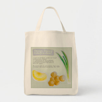 Chickpea Salad Recipe Grocery Tote Canvas Bags