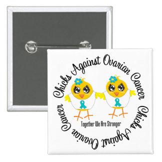 Chicks Against Ovarian Cancer 15 Cm Square Badge