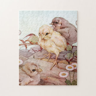 Chicks by E. J. Detmold Jigsaw Puzzle