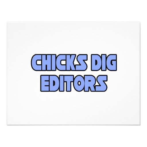 Chicks Dig Editors Personalized Invitations