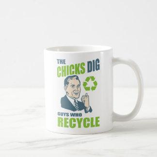 Chicks Dig Guys Who Recycle Funny Coffee Mug