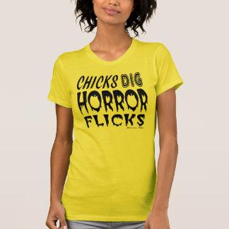Chicks Dig Horror Flicks T Shirts