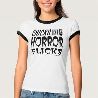 Chicks Dig Horror Flicks Tee Shirt