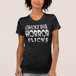 Chicks Dig Horror Flicks Tshirts