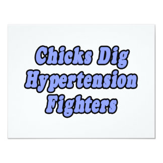 Chicks Dig Hypertension Fighters 11 Cm X 14 Cm Invitation Card