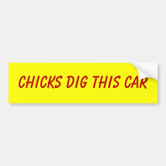 Chicks Dig This Car Bumper Sticker
