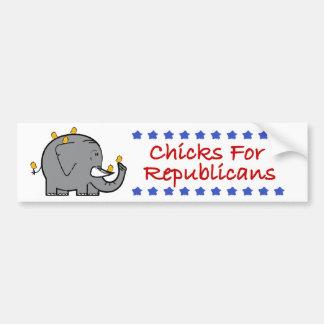 chicks for republicans bumper sticker