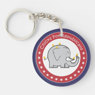 chicks for republicans keychain