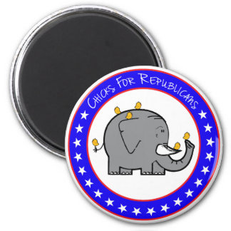 chicks for republicans 6 cm round magnet