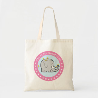chicks for republicans budget tote bag