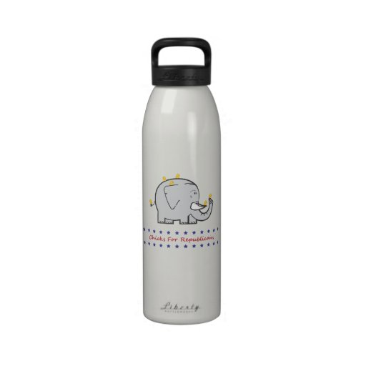 chicks for republicans water bottle