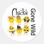 Chicks Gone Wild Round Sticker