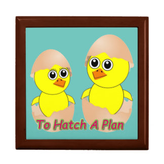 Chicks In Love To Hatch A Plan Large Square Gift Box