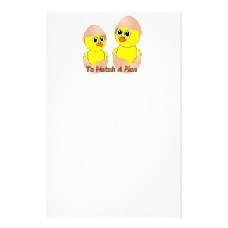 Chicks In Love To Hatch A Plan Stationery