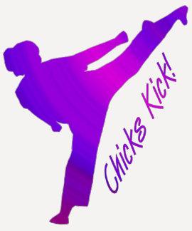 Chicks Kick! purple Tshirt