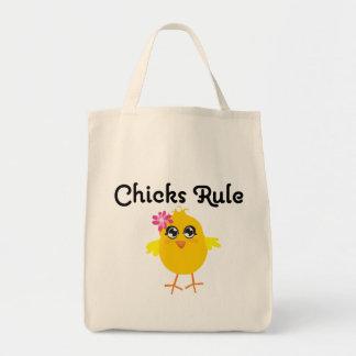 Chicks Rule Tote Bags