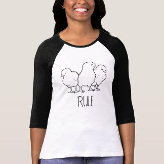 Chicks Rule Baseball Shirt