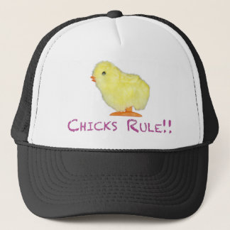 Chicks Rule Side Transparent Trucker Hat