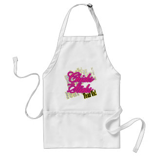 Chicks with Sticks Fear Us Adult Apron