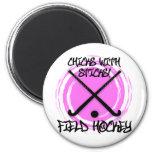 Chicks With Sticks - Field Hockey 6 Cm Round Magnet