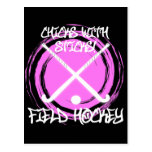 Chicks With Sticks - Field Hockey Post Card