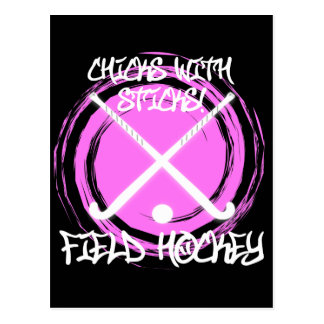 Chicks With Sticks - Field Hockey Postcard