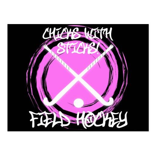 Chicks With Sticks - Field Hockey Post Card