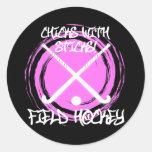 Chicks With Sticks - Field Hockey Round Sticker