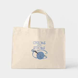 Chicks With Sticks Mini Tote Bag