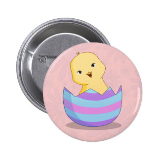 Chicky in an Easter Egg Button