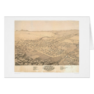 Chico, CA. Panoramic Map 1871 (0272A) Card