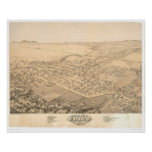 Chico, CA. Panoramic Map 1871 (0272A) Poster