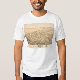 Chico, CA. Panoramic Map 1871 (0272A) Tees