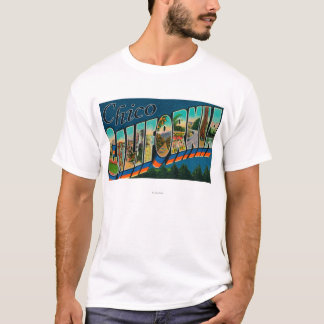 Chico, California - Large Letter Scenes T-Shirt