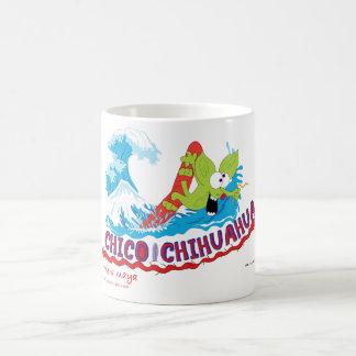 Chico Chihuahua surf Basic White Mug