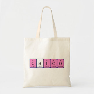 Chico periodic table name tote bag