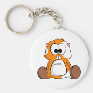 Chico the Hamster Basic Round Button Key Ring
