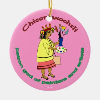 Chicomexochtli - painter's patron god christmas ornament