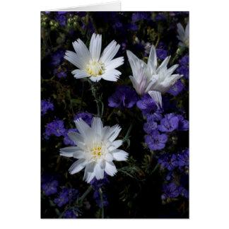 Chicory and Phacelia Wildflowers Card