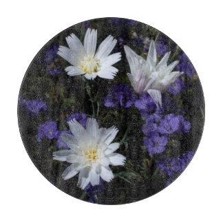 Chicory and Phacelia Wildflowers Cutting Board