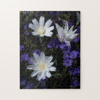 Chicory and Phacelia Wildflowers Jigsaw Puzzle