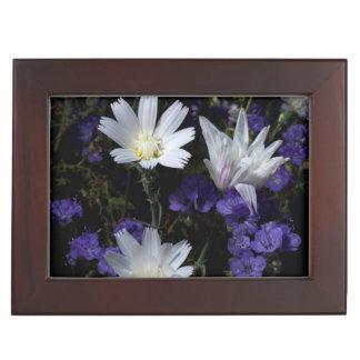 Chicory and Phacelia Wildflowers Keepsake Box