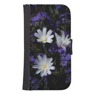 Chicory and Phacelia Wildflowers Samsung S4 Wallet Case
