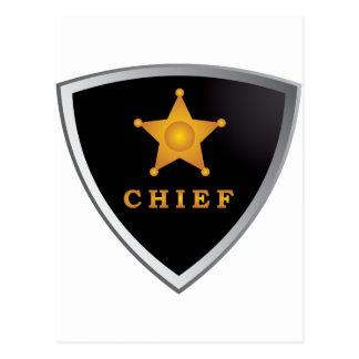 Chief badge postcard