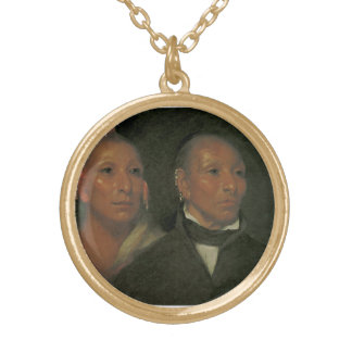 Chief Black Hawk and His Son Personalized Necklace