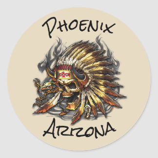 Chief Bones Phoenix Arizona Classic Round Sticker